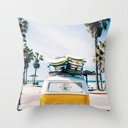 Surf van Throw Pillow