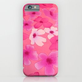 Girly pink watercolor abstract floral pattern iPhone Case