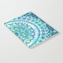Aqua Mosaic Mandala Notebook
