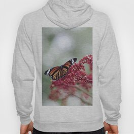 Butterfly Love for Red Flowers Hoody