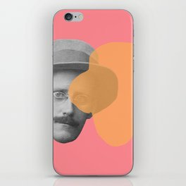 James Joyce - portrait pink and yellow iPhone Skin