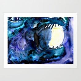 Moon Eater Dragon Art Print