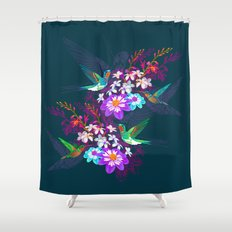 A low hum Shower Curtain