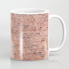 Plain Old Orange Red London Brick Wall Coffee Mug