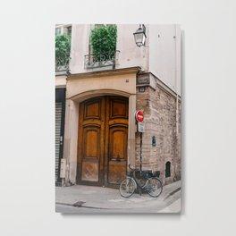 Paris Bicycle II Metal Print