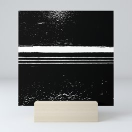 abstract black and white Mini Art Print