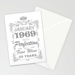 January 1969 50th Birthday Stationery Cards