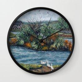 Cefn Golau Pond Wall Clock