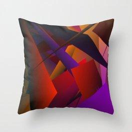 Smoke Screen Abstract 3 Throw Pillow
