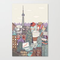 toronto Canvas Prints featuring Toronto by Ashley Ross