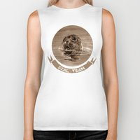 seal Biker Tanks featuring seal - sepia by ARTito