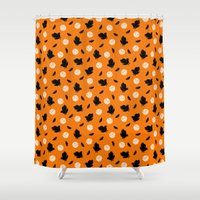 volleyball Shower Curtains featuring Volley Crows! by paraply