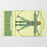 halo Area & Throw Rugs featuring vitruvian Halo by tshirtsz
