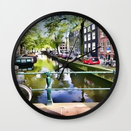 Amsterdam Canal Wall Clock