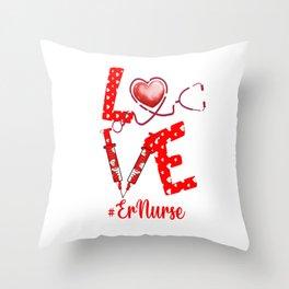 LOVE ErNurse apparel nurse gifts for women Throw Pillow