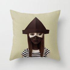 Ceci n'est pas un chapeau Throw Pillow