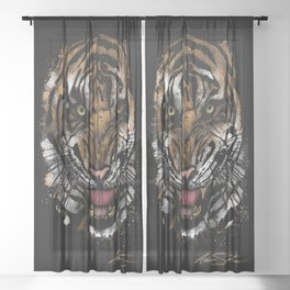 Tiger Face (Signature Design) Sheer Curtain