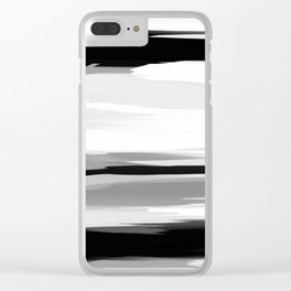 Soft Determination Black & White Clear iPhone Case