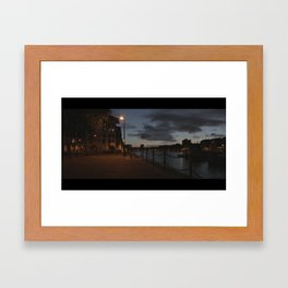 Surrey Quays by Night Framed Art Print