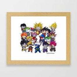 Hello Manga Collection. Framed Art Print