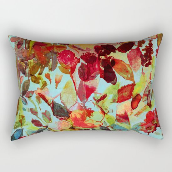 abstract flowers Rectangular Pillow