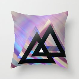 Violet triangles Throw Pillow