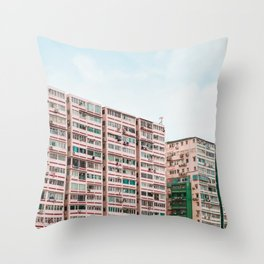 Crowded apartment Throw Pillow