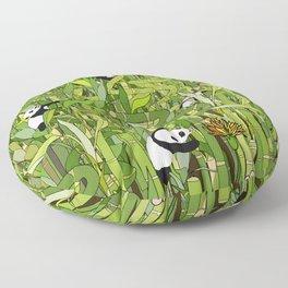 Pandas Bamboo Forest Floor Pillow