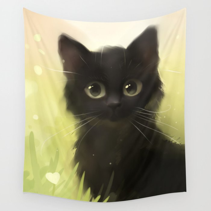 Savage Cat Wall Tapestry