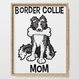 Border Collie Mom Elo Dog Puppy Doggie Mother Serving Tray