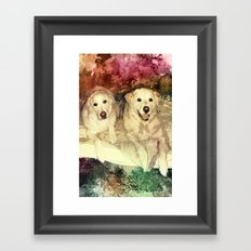 Bryn & Bailey Framed Art Print