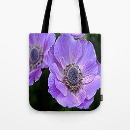 Remembrance Purple Poppy Flower Tote Bag