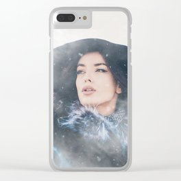 Snow Queen Clear iPhone Case