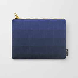 Black and blue striped Ombre Carry-All Pouch