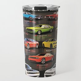 Charger - Challenger History Automotive Evolution Poster Travel Mug
