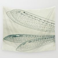 wings Wall Tapestries featuring wings by Bonnie Jakobsen-Martin