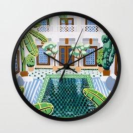 Moroccan Oasis Wall Clock