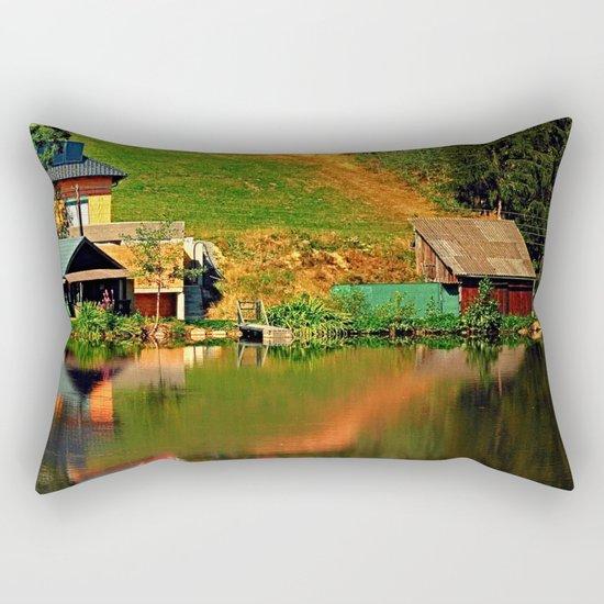 A village in the mirror Rectangular Pillow