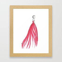 Crimson Framed Art Print