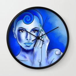 Jewellisina V1 - blue treasure Wall Clock