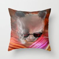 infamous Throw Pillows featuring infamous by kobymartin