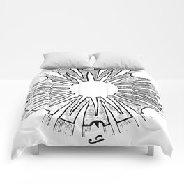 Polypite of Aurelia Aurita Cut Comforters
