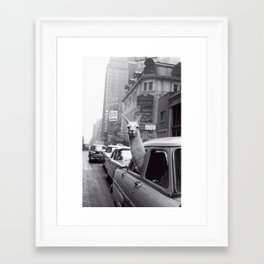 New York Llama Framed Art Print