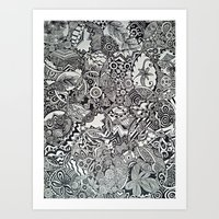 zentangle Art Prints featuring Zentangle by NicoleCorbelle