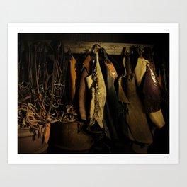 Cowboy Gear at Midnight Art Print