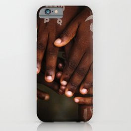 Hands symbol iPhone Case