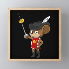 Mouse Musketeer With Sword Framed Mini Art Print