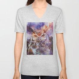 Owl Spirit Animal - Shamanic Power Animal  Unisex V-Neck