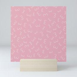 Pink Boobs Breast cancer awareness sisterhood power Mini Art Print