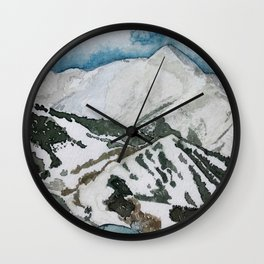 Snowmass Ski Area Watercolor Wall Clock